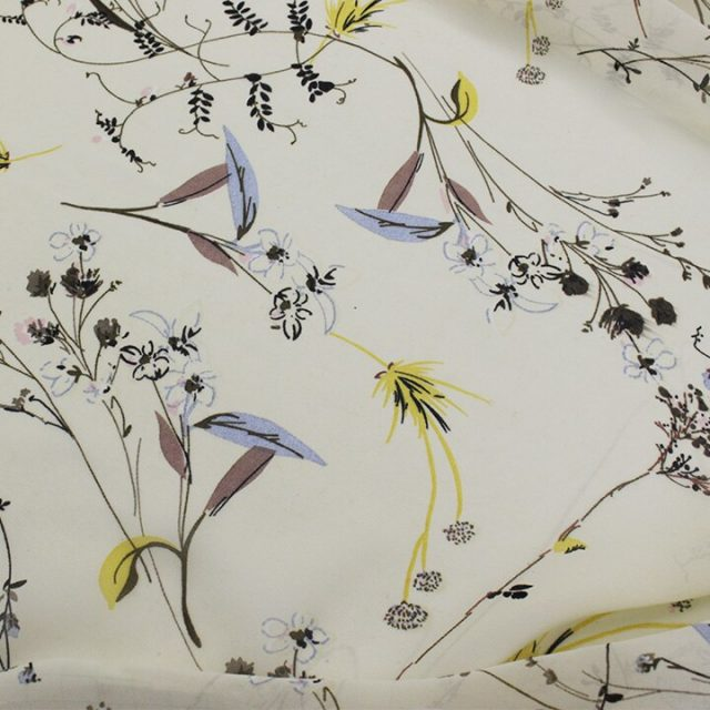 Floral Printed Chiffon Fabric For Summer Dress Shirts Sewing Tulle Fabrics Polyester Cloth Apparel Fabric 50*150CM