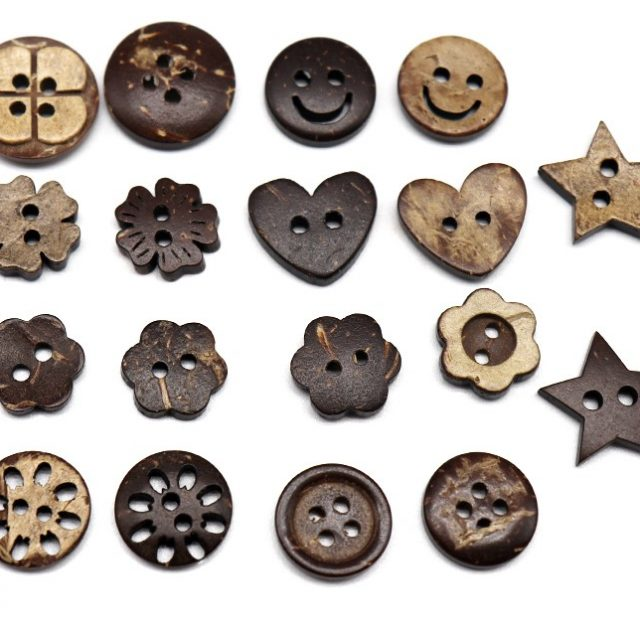 10-15mm Assorted Coconut Wooden Buttons
