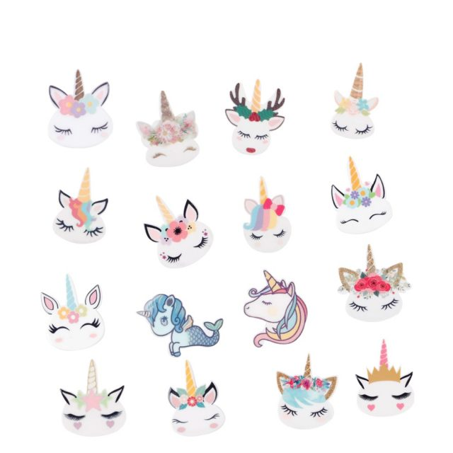 Cute Personalized Cartoon Unicorn Pony Resin Accessories Beads