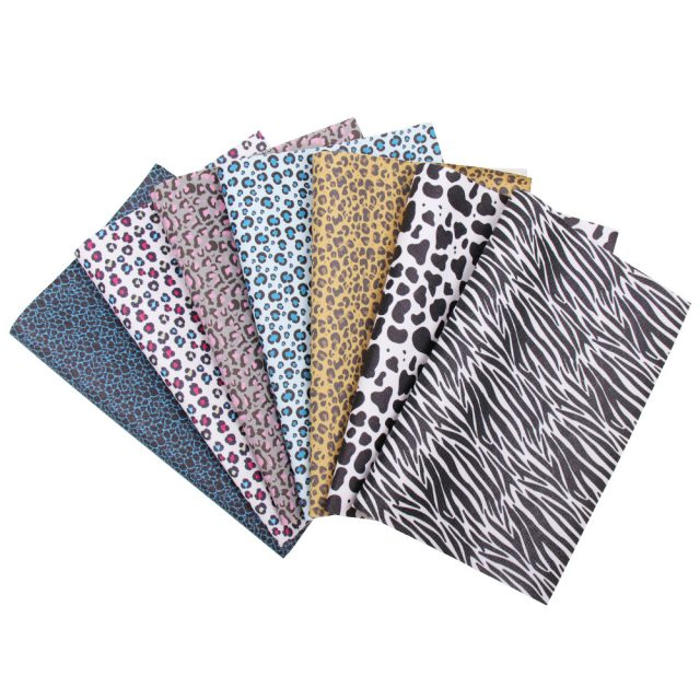 Animal Leopard Pattern Synthetic Leather Fabric