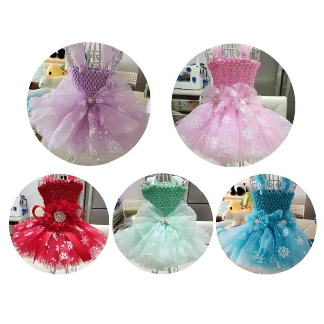 Multi Colour Snowflake Tulle Tutu Skirt Decoration Fabric