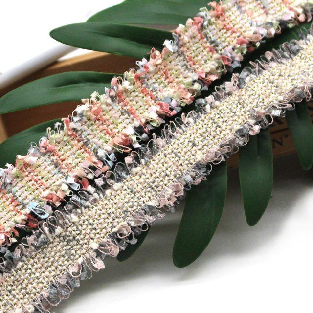 Vintage Gold Threads Tweed Embroidery Fringe Trim Ribbons(1)