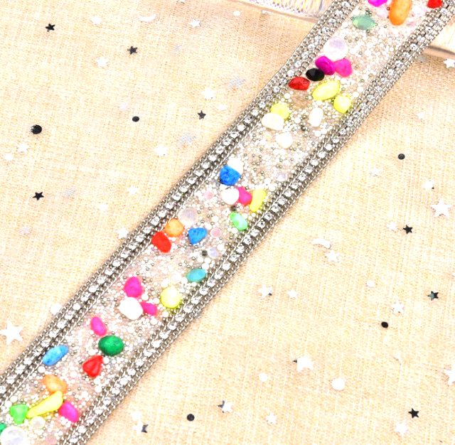 Chic Beaded Rhinestones Special Occasion Lace Ribbons Trims