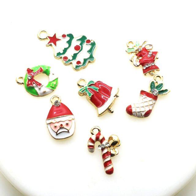 Christmas Decoration Decor Santa Claus Xmas Tree Snowman Pendants Ornaments Charms