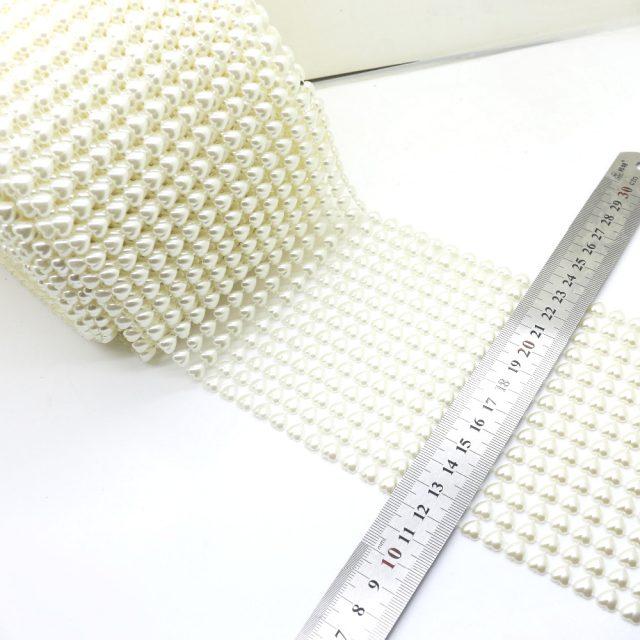 Heart Shape Pearls Flatback Decorative Wrap